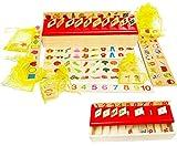 Toys of Wood Oxford caja de clasificación de madera - Juguetes encajar en 8 categorías 80 objetos - juguetes educativos 1 año