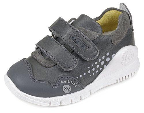 Biomecanics 151180, Chaussures de Football Mixte Bébé, 25 EU gris - Marengo (Sauvage / Serraje)