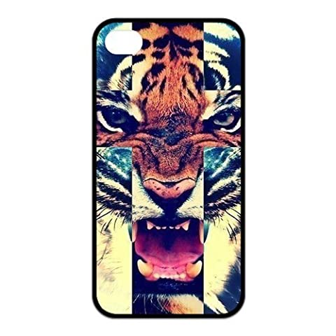 Custom Tiger Roar Durable Back Cover Case for iPhone 4 4s