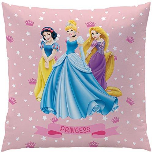 Disney Princess 042806 Kissen Diadème, Bezug Baumwolle, Füllung Polyester, 40 x 40 cm (Disney Baby Princess)