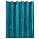 CCYYJJ Duschvorhang, Verdickte Polyester, Wasserdicht Und Mehltau, Warm, Dunkel Grüne Runde Muster, Badezimmer Vorhang (Größe: 180 * 180 cm).