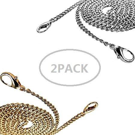 Btik Long Metall Strap Handtasche Ketten Geldbörse/Schulter/Cross-Body-Tasche Träger 46 in lang Karabinerverschluss stabile Metall-Schnallen (gold / silber)