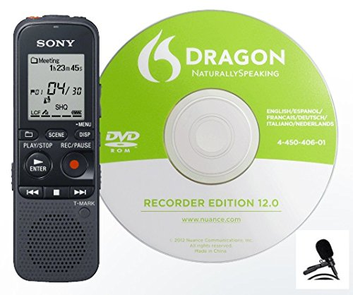 sony-icdpx333d-icd-px333d-4gb-1073-hrs-ic-recorder-dragon-naturally-speaking-disc-with-pc-link-and-c