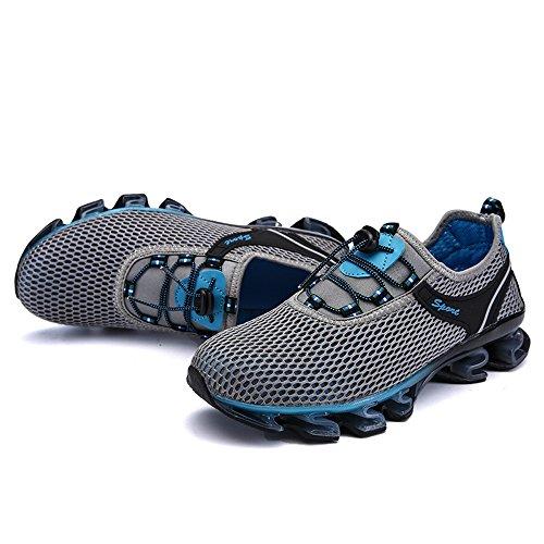 Scarpe sportive maschili ammortizzanti Scarpe da ginnastica antiscivolo Confortevoli scarpe da ginnastica in pizzo Grau