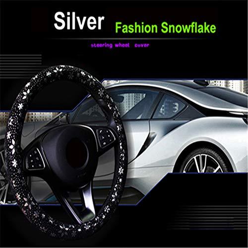 Coprivolante in vera pelle per auto Nero colore Autostyle