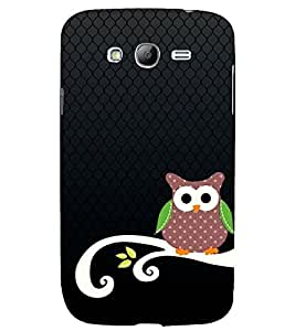 ANIMATED OWL PATTERN 3D Hard Polycarbonate Designer Back Case Cover for Samsung Galaxy Grand Neo Plus :: Samsung Galaxy Grand Neo Plus i9060i