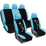 WOLTU AS7250bl Auto Sitzbezüge für PKW ohne Seitenairbag, mit Butterfly, blau