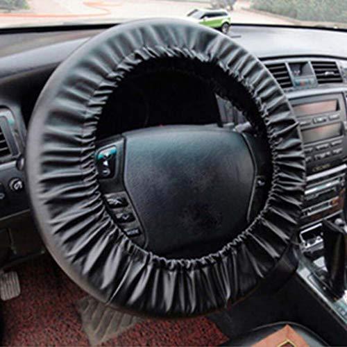 Housse de protection pour volant noir en cuir délavé