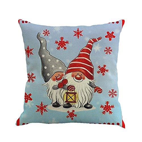 Lucky Mall Weihnachten Printing Färben Schlafsofa Home Decor Kissenbezug Kissenbezug