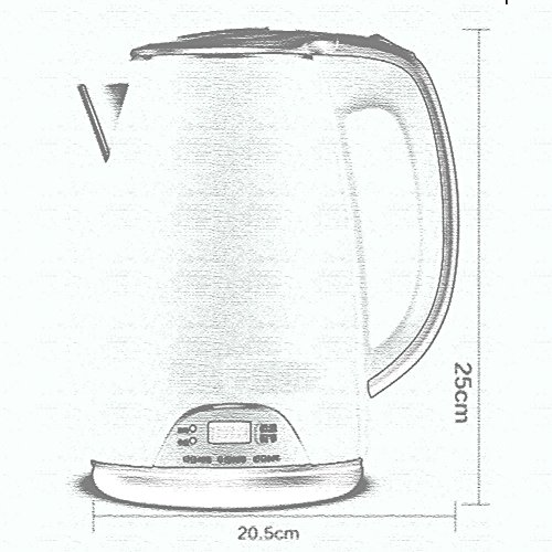 BCQ Three Anti-Hot Anti-Hot Electric Kettle 304 Stainless Steel 1.7L 1800W Green White Electric Kettles,Green