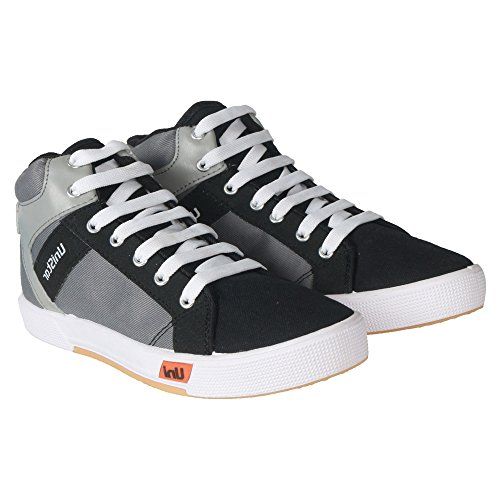 Unistar Grey High Ankle Men's Casual Sneakers; 5007-Grey  available at amazon for Rs.489