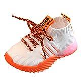 WEXCV Unisex Baby Jungen Mädchen leuchtende Schuhe Sandalen für Kinder Leucht Lauflernschuhe Weben Schuhe Mesh Sportschuhe Freizeitschuhe Krabbelschuhe Outdoor Sportschuhe Sneaker Licht Sportschuhe