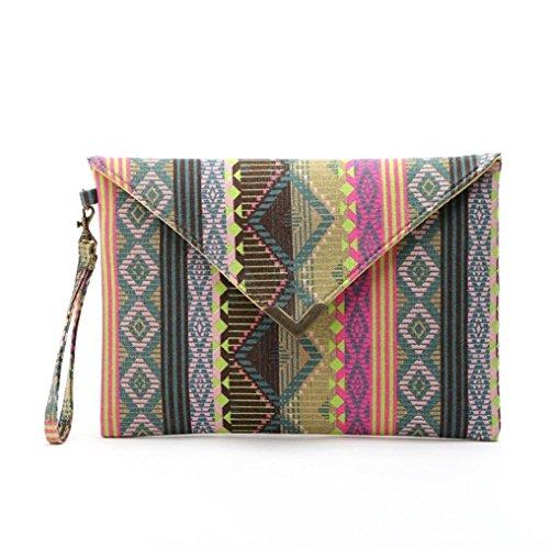 Kolylong Women Envelope Clutch Handbag Purse Tote Ladies Bag wallet