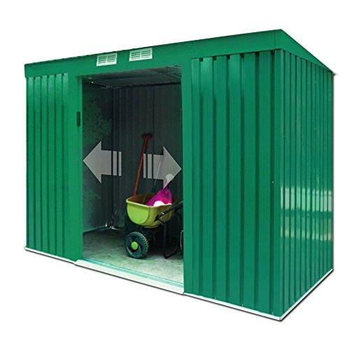 VERDELOOK 621–6Cobertizos, tamaño mediano, de chapa, galvanizado, 194x 121x altura 181cm, verde, Jardín Equipamiento