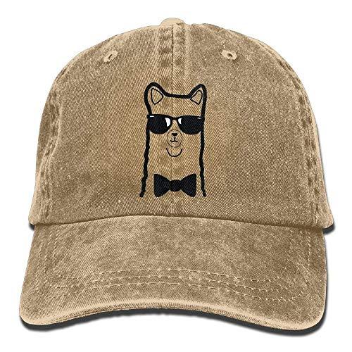 Cartoon Alpaca Llama Unisex Baseball Caps Denim Hats Cowboy Outdoor