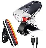 Fahrrad Scheinwerfer mit USB Aufladbare, Fahrrad Licht Leistungsstarke Lumen LED Vorder- und Rückseite Rücklichter Einfach Zu Installieren Für Kinder Männer Frauen Road Cycling Safety Taschenlampe