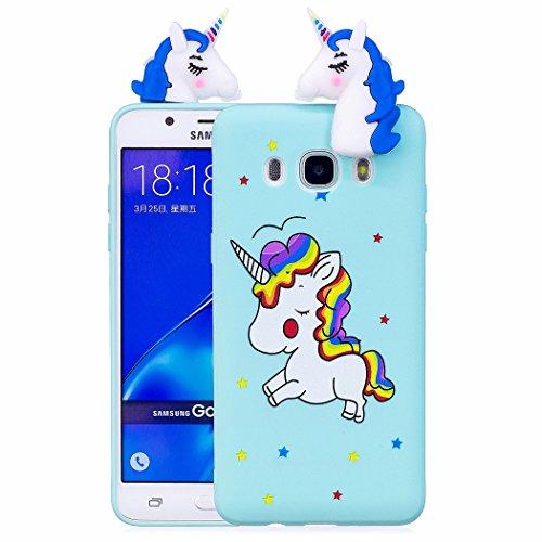 TPU Hülle für Samsung Galaxy J7 2016, Silikon Handyhülle Schöne 3D Case für Samsung Galaxy J7 2016 / J710, Schutzhülle Tasche Silikonhülle für Samsung Galaxy J7 2016 / J710, ZCRO - Cute Cd-player