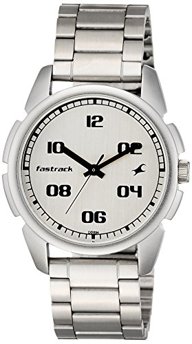 51hqKAxmgAL - 3124SM01 Fastrack Casual Silver Mens watch