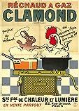 Carnet Blanc, Affiche Réchaud À Gaz Clamond (Bnf Affiches)