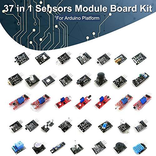 Yestter Kit Modulo Sensore 37-in-1 per La Piattaforma Arduino Uno R3, Mega, Nano
