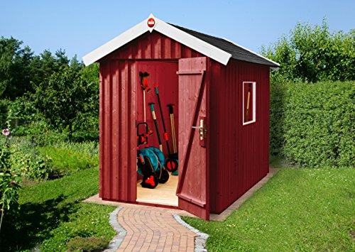 Weka Gartenhaus Schwedenhaus Größe 1 schwedenrot