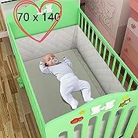 Qulista erholsamer Schlaf - Bettumrandung Bed Bumper atmungsaktiv Bettnestchen für Babybett Bett-Bumper