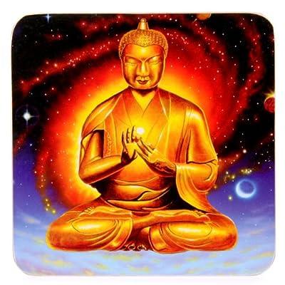 Set of 4 Coasters - Floating Buddha