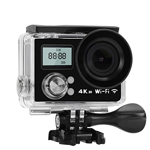 Acouto Wifi Action Kamera 12 M 4 K 2 Zoll Dual Screen 170 ° Weitwinkel Wasserdichte Sport Kamera Camcorder Head Cam Kits für Outdoor Surfen Radfahren Reiten