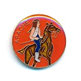 Apache Apatsche Mescalero Krieger Indianer Metall Button Badge Pin Anstecker 0341