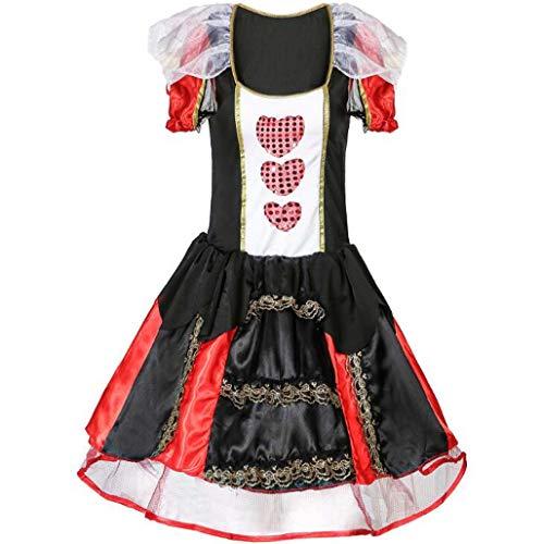 Der Herzen Königinnen Kostüm - MSSugar Cosplay Kostüm Party Kostüm Erwachsene Damen Weihnachten Halloween Karneval Festival Königin der Herzen der Königin der Herzen,XXL