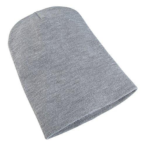 Yupoong Flexfit Unisex Wintermütze / Beanie / Strickmütze, lang (One Size) (Grau meliert)