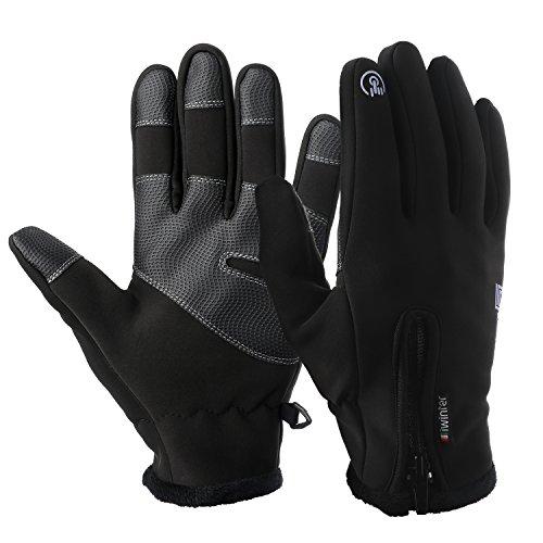 Touchscreen Handschuhe, GVDV Unisex Warme Fahrradhandschuhe Touchscreen Winddicht Wasserdicht für Smartphone Sport Handschuhe Motorrad Jagd Kletter Handschuhe