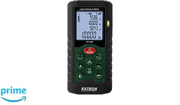 Extech dt100m laser entfernungsmesser grün: amazon.de: baumarkt