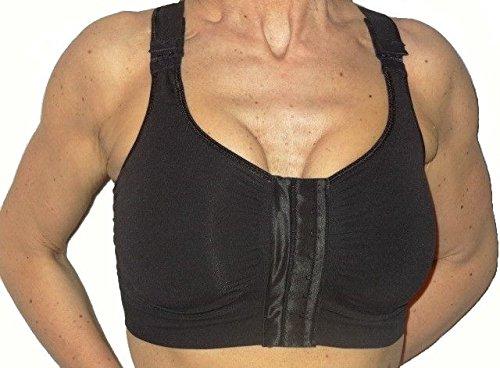 KompressionsBH Brustvergrößerung, Nach chirurgischen eingriffen BH - Schwarz Größe M (Nach Operation Bh Der)