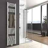 Heizkörper Badheizkörper 1800x400mm | 765 Watt Leistung Weiß Handtuchtrockner Heizkörper Bad Mittelanschluss