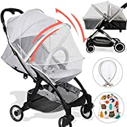 Stroller Bug net, Universal Mosquito net for Stroller, Unique Double Zipper Design-Great Accessories for Baby