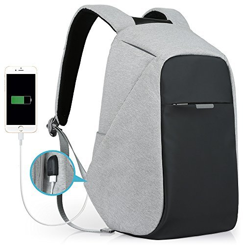 ffc5272a126f Oscaurt Anti-Theft Travel Backpack Business Laptop Book School Bag with USB  Charging Port for