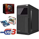Master-PC AMD FX-4300 (Quad-Core) 4 x 3,80 GHz, 8 GB DDR3, 128 GB SSD SATA3, ATI Radeon HD 3000 Grafik, USB 3.0, HDMI, DVI, VGA, DVD-Brenner, Sound, Gigabit-Lan