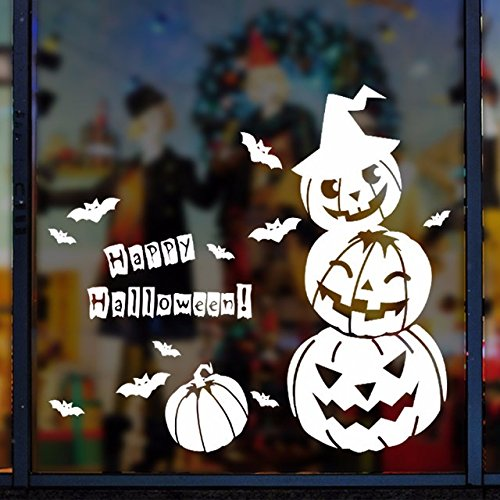 Festliche Wall Sticker animation terroristischen Ausdruck geek Shop bar Fenster Glas Dekoration Halloween clown, 170 * 130 cm Kürbis (Flecken Clown Kostüme)