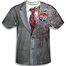 Harvey Dent de el caballero oscuro de para mayores de T-camiseta de manga corta dos baterías recargables de iones de cara de disfraz infantil de Batman