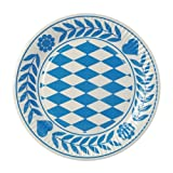 """Papstar Pappteller / Einwegteller rund, """"Bayrisch Blau"""" (100 Stück), 23 cm Durchmesser, aus reinem Frischfaserkarton, für Gastronomie, insbesondere für Feste im Stil vom Oktoberfest, #11177"""