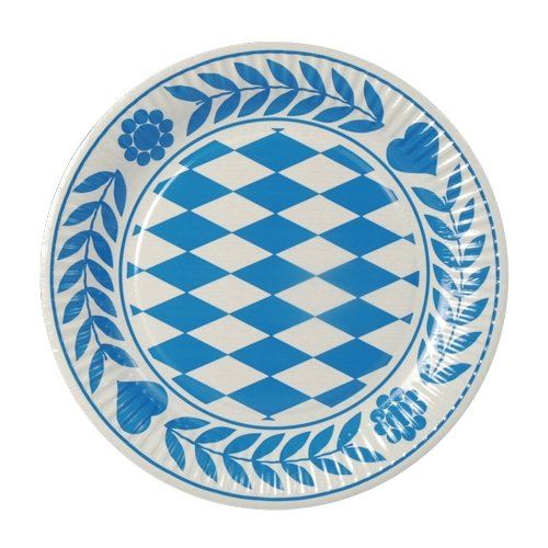 """Papstar Pappteller rund, """"Bayrisch Blau"""" (100 Stück)"""
