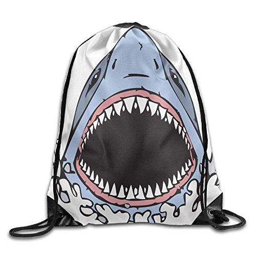 Pillow hats Unisex Shark Mouth Pencil and In Color Fins Print Drawstring Backpack Rucksack Shoulder Bags Gym Bag Sport Bag (Shark Fin Hat)