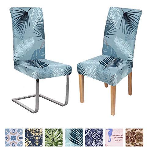 Homaxy Stretch Beschützer Schwingstuhl Stuhlhussen Blumen Set Moderne Universal Hussen für Stuhl Esszimmer, Elastische Waschbare Stuhlbezüge (2 Stück, Style 3) -