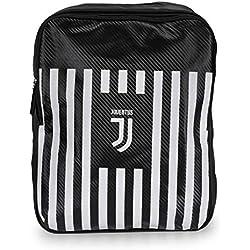 Juventus Turin Mochila Rayas, Negro/Blanco, Talla única