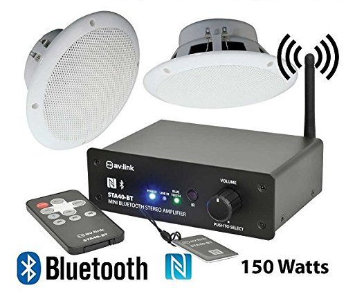 BATHROOM WIRELESS BLUETOOTH AMPLIFIER WATER RESISTANT CEILING SPEAKERS 103.108 B