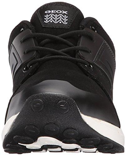 Geox Asteroid B A, Jungen Sneakers Schwarz (c9999)