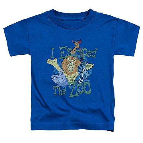 Madagascar - Kleinkinder Escaped T-Shirt, 4T, Royal Blue (T-shirt Kleinkind Royal Blue)