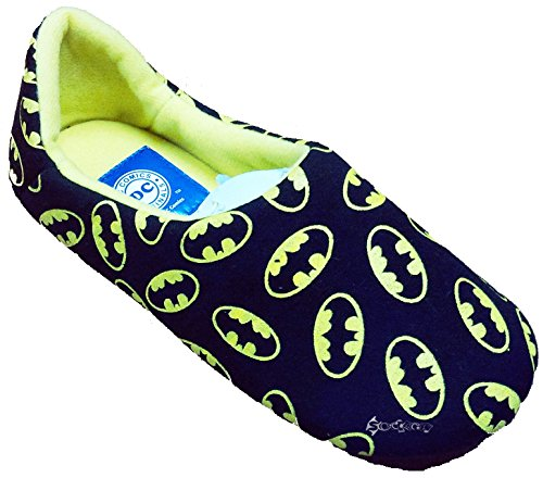 KidCo Boys Batman Allover Logo Print Jersey Slippers Shoe Sizes 7-4