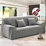 Sofabezug Sofahusse Sofaabdeckung Sesselbezug Sesselhusse Sofaüberwurf Stretch Elastisch (2 sitzer 145cm-185cm, Grau)